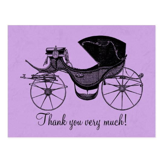 Princess Baby Shower Thank You Postcard