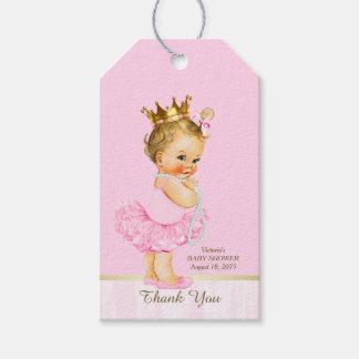 Princess Ballerina Pink Tutu Pearl Baby Shower Gift Tags