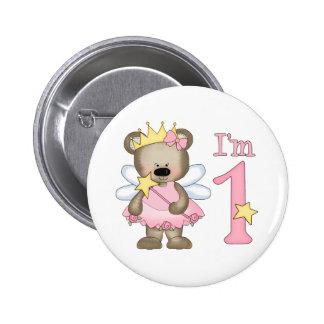 Princess Bear 1st Birthday 6 Cm Round Badge