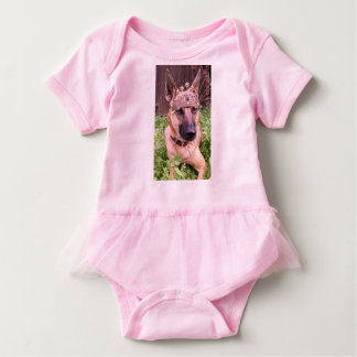 Princess Belgian Malinois Dog Baby Bodysuit