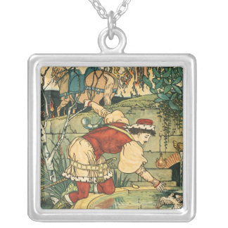 Princess Belle Square Sterling Silver Necklace