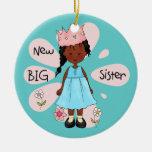 Princess Big Sister African American Christmas Ornament