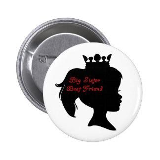 Princess Big Sister Best Friend 6 Cm Round Badge
