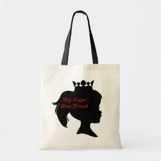 Princess Big Sister Best Friend Tote Bag
