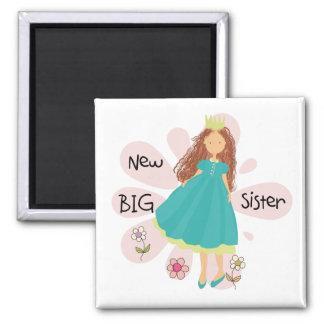 Princess Big Sister Brown Hair Magnet