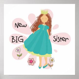 Princess Big Sister Brown Hair Posters