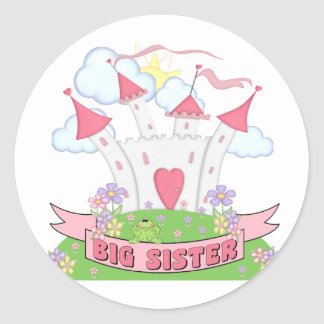 PRINCESS BIG SISTER ROUND STICKER