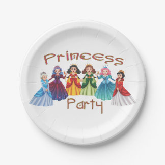 Princess Birthday Party 7 Inch Paper Plate