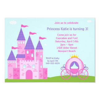 "Princess Birthday Party Invitation 5"" X 7"" Invitation Card"