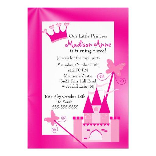 Princess Birthday Party Invitation