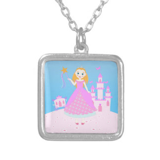 Princess Birthday Party Square Pendant Necklace