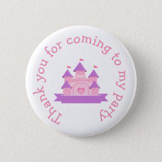 Princess Birthday Party Pink and Purple 6 Cm Round Badge