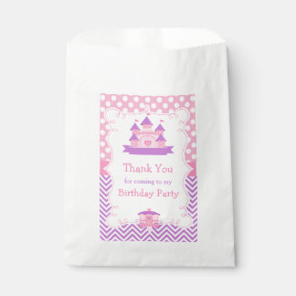Princess Birthday Party Pink and Purple Favour Bag