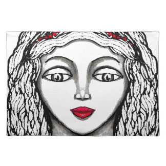 Princess Black and White Design CricketDiane Placemat