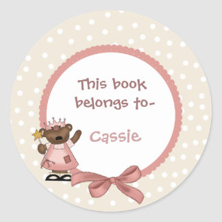 Princess bookplate sticker