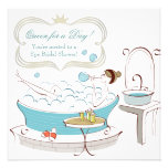Princess Bride Spa Bridal Shower Personalised Announcements