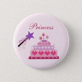 Princess Cake and Wand 6 Cm Round Badge