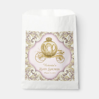 Princess Carriage Baby Shower Favour Bag