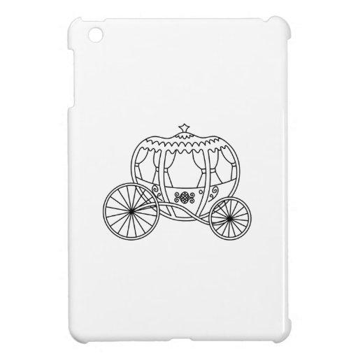 Princess Carriage, Black Coach. Cover For The iPad Mini