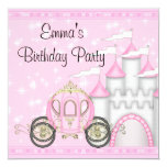 Princess Carriage Castle Girls Princess Birthday Personalised Invitations