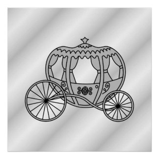 Princess Carriage in Gray Posters