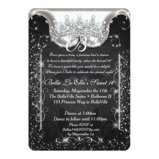 Princess Carriage Jewel Party Birthday Invitations
