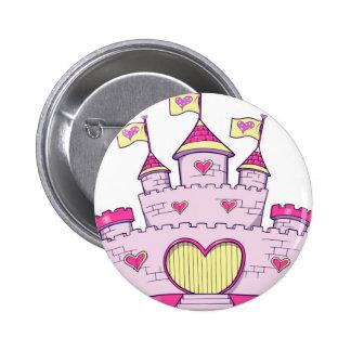 Princess castle 6 cm round badge