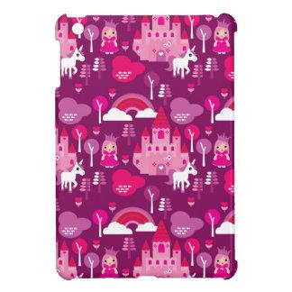 princess castle and unicorn rainbow iPad mini case