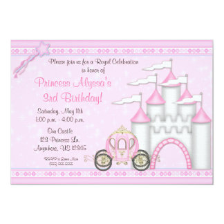 Princess Castle Birthday Invitation