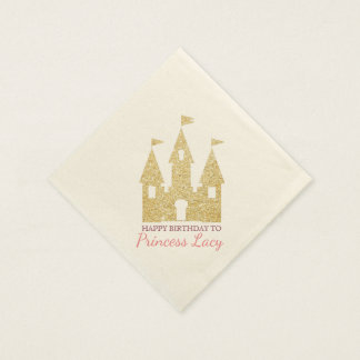 Princess Castle Birthday Party Paper Napkin