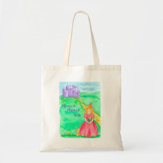 Princess Castle Custom Name Tote Bag