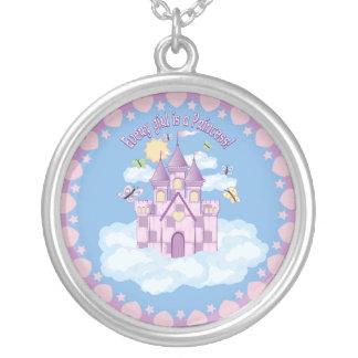 Princess Castle Round Pendant Necklace