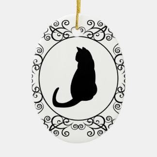 Princess Cat Ceramic Oval Decoration