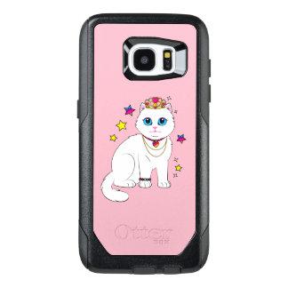 Princess Cat with Stars and Tiara OtterBox Samsung Galaxy S7 Edge Case