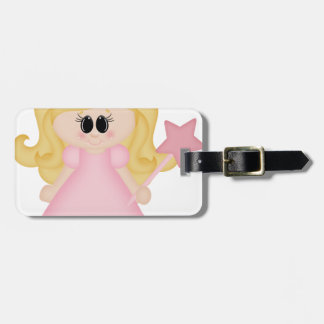 Princess cinderella  in pink luggage tag