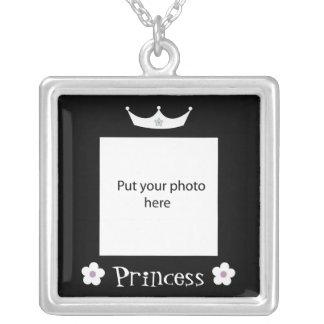 Princess Crown Black Border Template Add Photo Jewelry
