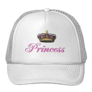 Princess crown in hot pink cap