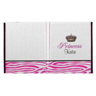 Princess crown in hot pink iPad folio cover