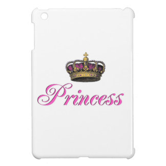 Princess crown in hot pink iPad mini cover