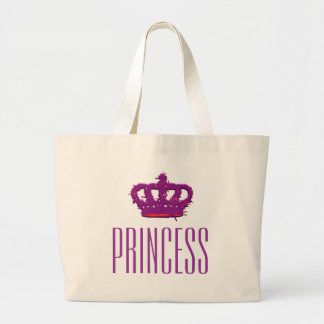Princess Crown Jumbo Tote Bag