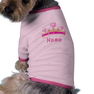 Princess Crown Personalised Dog Ringer Dog T-shirt