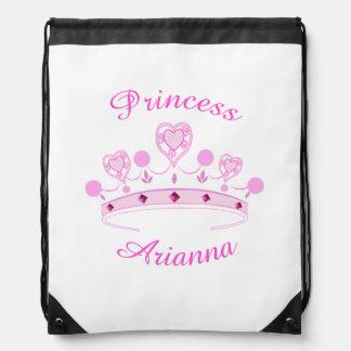 Princess Crown Personalized Drawstring Bags