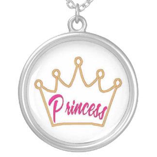 Princess Crown Silver Necklace