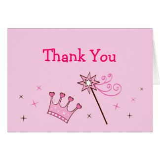 Princess Crown Tiara Thank You Note Cards