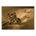 Princess Cut Diamond Ring Wedding Thank You Card