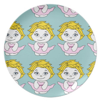 Princess Dancing Cartoon Party Plate