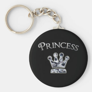 Princess Diamond Crown Key Ring
