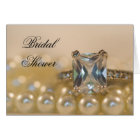 Princess Diamond Ring Pearls Bridal Shower Invite