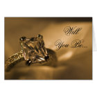 Princess Diamond Ring Will You Be My Bridesmaid Card