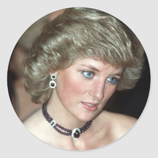 Princess Diana Germany 1987 Classic Round Sticker